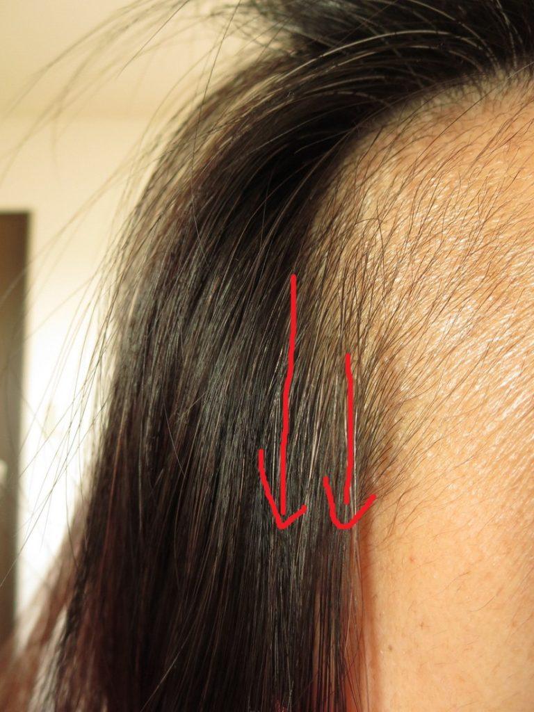 サイド・髪の表面