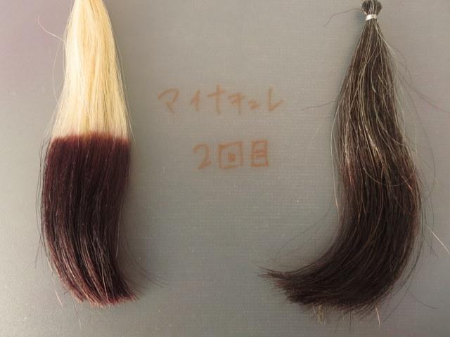マイナチュレオールインワンカラートリートメント 白髪染め2回目