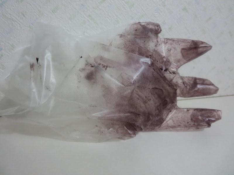 クロエベール ビニール手袋は使い捨てにすると楽
